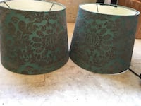 Green and black floral ceramic container Portland, 97230
