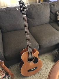 Beautiful Acoustic Electric Greg Bennett Design Bass Guitar Meridian, 83646