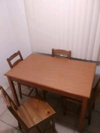 WOOD TABLE & 4 CHAIRS!!.
