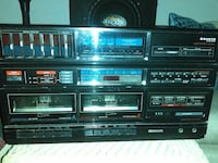 Vintage Sanyo Stereo Dual Cassette with Equalizer
