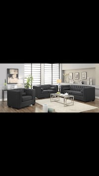 Gray tufted sofa and love seat Bellair, 32073