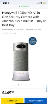 Honeywell 1080p HD All-in-One Security Camera Burnaby, V5G 1P5