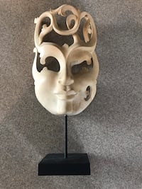 Handcarved wooden mask made in Indonesia Orchard Hills, 21742
