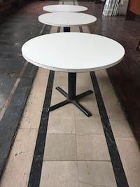 White Hard Tables - 12 available Jersey City, 07302