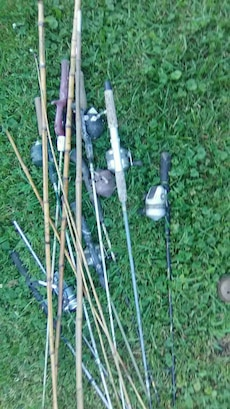assorted color fishing rod lot