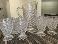 pineapple shape water pitcher with 6 glasses Alexandria, 22312