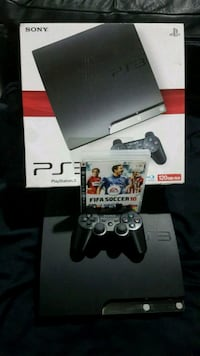 black Sony PS3 Slim with controller and box Mississauga, L5N 4A2