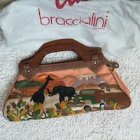 borsa da donna in pelle marrone