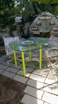 green and black metal base glass top table Dana Point, 92629