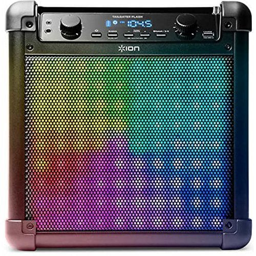 Ion Audio Tailgater Flash Wireless Rechargeable Speaker System with Sound-Reactive Lights IPA88