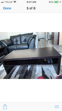 Leather couches and table