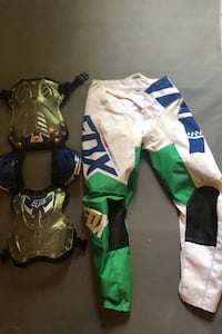 Fox dirtbike chest plate and fox pants