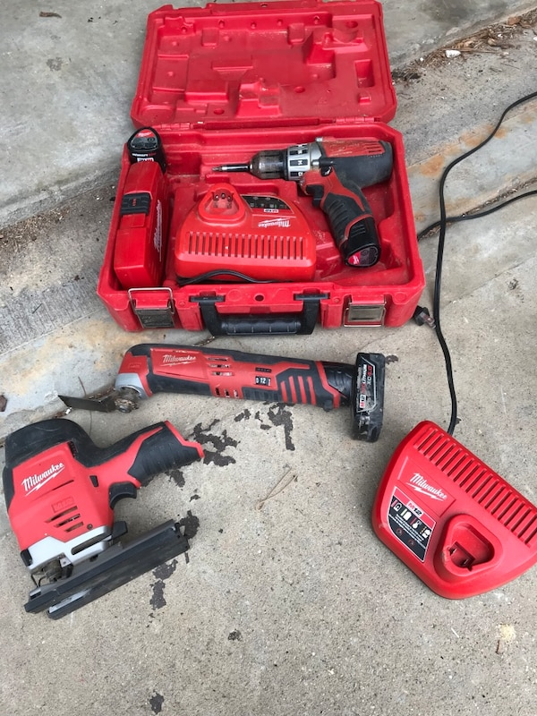 Used Several Assorted Milwaukee Cordless Power Tools For Sale In
