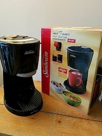 black Sunbeam hot water dispenser with box Huntington