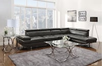 Charcoal grey sectional  Bellair, 32073