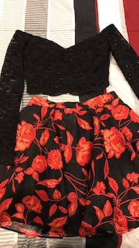 black and red floral skirt Garden Grove, 92843