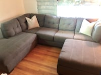 Grey Sectional Couch with Ottoman Jersey City, 07307
