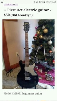 black and white electric guitar Cleveland, 44144
