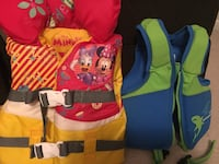 Infant and 2 yr  life vest