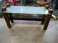 Rustic glass top accent table Warner Robins, 31088