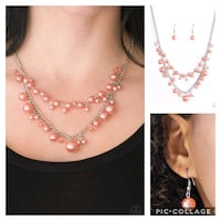 Blissfully bridesmaid orange necklace Gaithersburg, 20878
