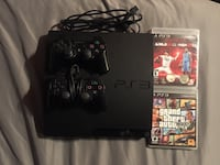 PlayStation 3 PS3 slim Console with 2 controllers and games Toronto, M1S 3A7