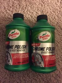 Two bottles Turtle Wax chrome polish & rust remover Cockeysville, 21030