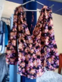 women's pink and blue floral blouse Paramount, 90723
