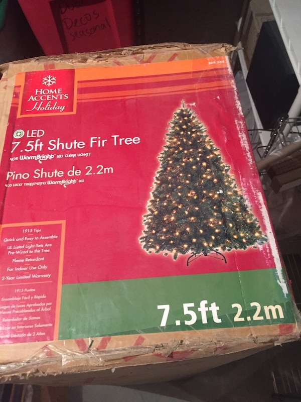 green home accents holiday led 75 ft shute fir tree