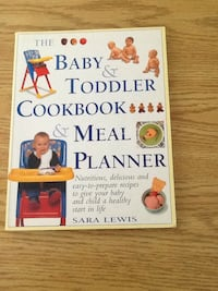 The baby and toddler cookbook and meal planner book by Sara Lewis Puslinch, N0B