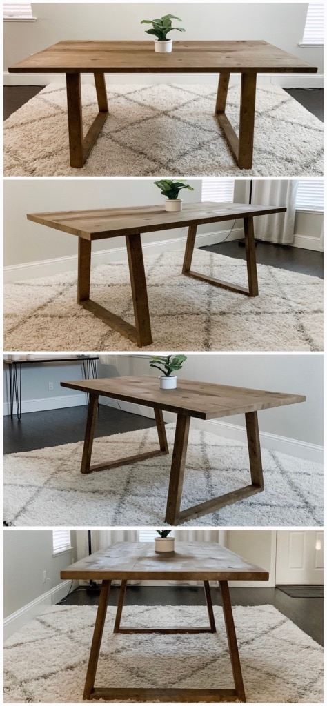 Photo 6FT x 3FT Solid Wood Rustic Modern Dining Table