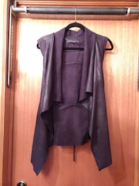 Zara Leather Cascading Cardigan Tunic  Toronto