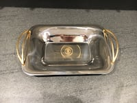Serving tray with brass handles  Laval, H7M 6A4