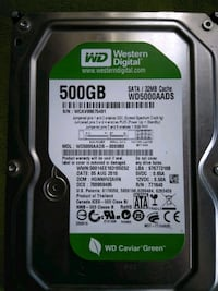 Western Digital HDD 500 gb