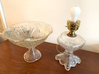 Beautiful Cut Glass Punch Bowl & Table Lamp Baltimore, 21202