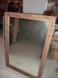 wall mirror with brown frame Milton