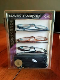 3 pairs of reading glasses w/case Imperial, 15126