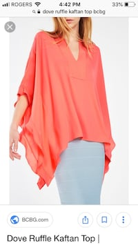 NEW red BCBG Maxazria Kaftan top Vancouver, V6G