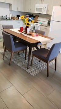 "60"" Contemporary 5 piece dining set"