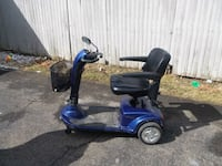 blue and black mobility scooter 363 km