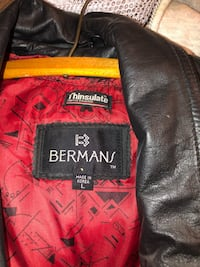 bermans leather jacket size L North Fort Myers, 33903