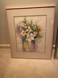 Water colors painting of flowers by artist Lorey Crouch