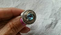 10K wgf two tone blue topaz ring Omaha, 68104