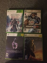 Four xbox 360 game cases London, N6A 1A7