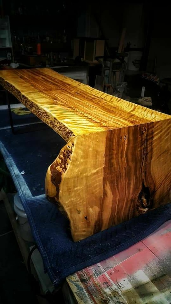 Swell Live Edge Waterfall Table Or Bench Evergreenethics Interior Chair Design Evergreenethicsorg