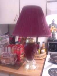 red and black table lamp Kingston, K7M 2B1