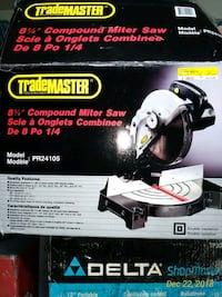 New Compound Miter Saw 8 & one quarter Inch Toronto, M3M 1J1