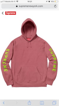 Supreme Gradient Dark Rose Sweatshirt (M) Hicksville, 11801