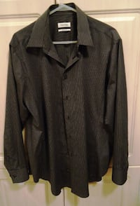 CALVIN KLEIN MENS LONG SLEEVE DRESS SHIRT, SIZE M Richmond Hill