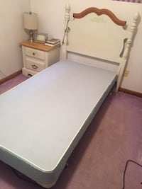 Good Condition! Twin bed frame and headboard.  Youngstown